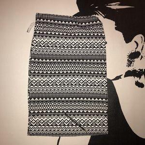 Shinestar   Women's Midi Aztec Print Skirt